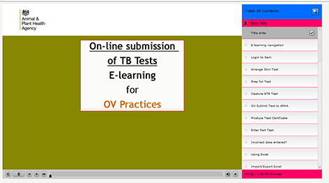 Sam e-learning  for OV Practices
